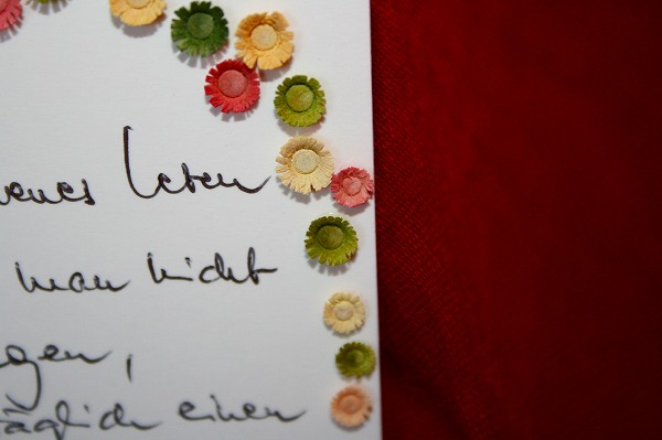 飾り台 直筆の詩