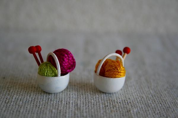 毛糸カゴ(黄)