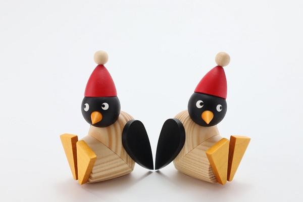 サンタペンギン子ども 座り