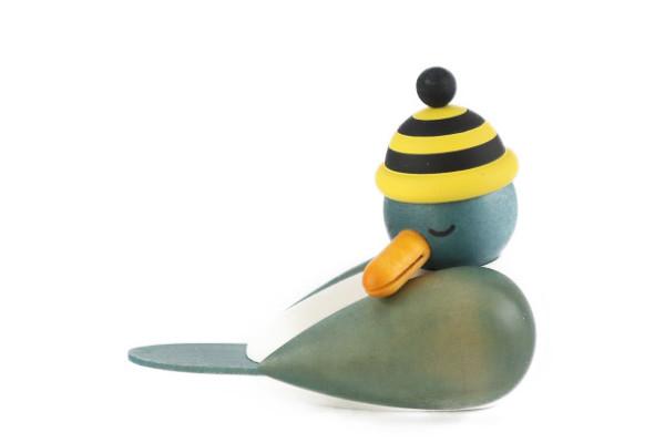 カモメ青 お昼寝 黄黒帽子