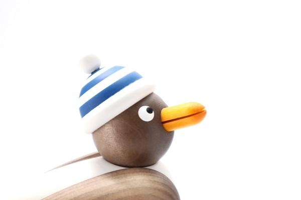 カモメ茶 青シマ帽子