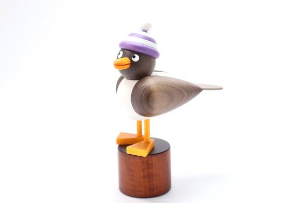 カモメ茶 白紫帽子