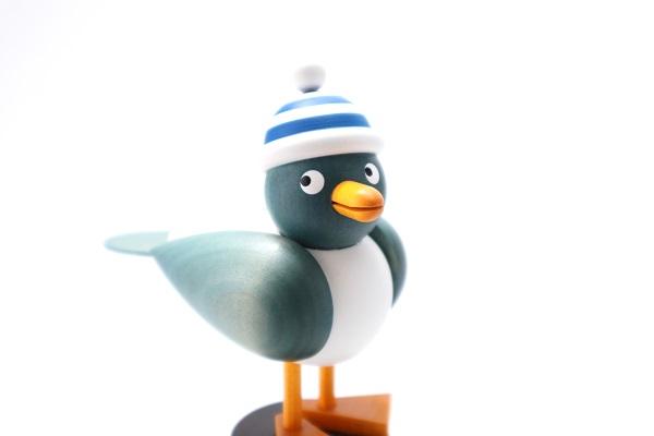 カモメ青 青シマ帽子