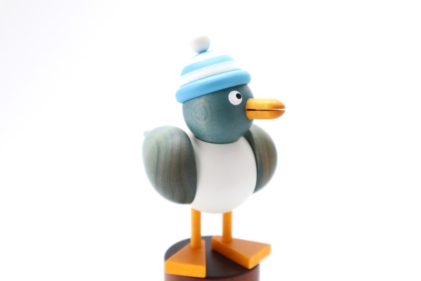 カモメ青 水色帽子
