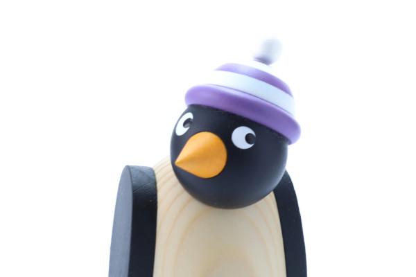 ペンギン 白紫帽子